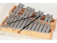 GOUDEN BRUG Metalofone 62036  Cromático  c2 - a3 conjunto de 22 barras + 2 malhos L 3.
