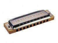 Harmónica diatónica  Hohner Blues Harp MS F  A harmónica de Richter mais conhecida. Excelente acabamento e som típico caracterizam a produção moderna da Hohner.  Características:  -Fá maior -Sistema MS -Pente de madeira -Palhetas de bronze de0,9 mm