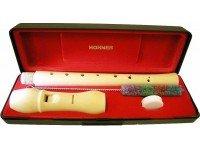 Flauta soprano (barroco) Hohner 9534  Flauta soprano (barroco) Hohner M9534 - Construção duas peças - Material madeira