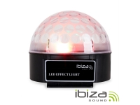 Ibiza ASTRO-BAT 4 LEDS 3W RGBa Mic