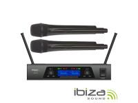 Ibiza Central de Microfones UHF s/ fios c/ 2 Canais B-Stock