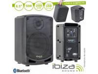 "Ibiza Coluna POWER5-BT  Coluna Amplificada 6.5"" 50W USB/BT/BAT"
