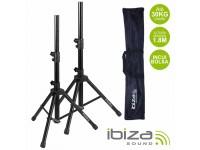Suporte para coluna com bolsa Ibiza Conjunto 2 Suportes P/ Colunas C/ Bolsa 1.8m 30kg