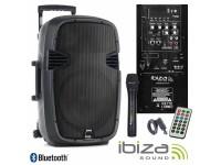 "Colunas Amplificadas Ibiza HYBRID10VHF-BT B-Stock   Coluna Amplificada 10"" 200Wrms/400Wmáx  Leitor Multimédia USB / SD / REC e Bluetooth  1 Microfone s/ fios, c/ comando, 80-20.000Hz"