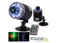 Lasers Ibiza LAS360RG-FIREFLY  Laser Vermelho e Verde com 18 LEDS RGB 360° Comando MIC