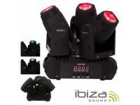 Moving Head LED Ibiza LMH250LED-TRI  Cabeza móvil Triple 3 LEDS CREE RGBW 10W FOCUS DMX MIC LMH250LED-TRI