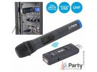 Microfone sem fios Party Light & Sound WM-USB  Micrófono inalámbrico UHF con receptor USB PLS