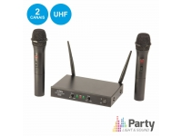 Microfone sem fios PARTY-200UHF-MKII CENTRAL MICROFONES S/FIOS 2 CANAIS  UHF