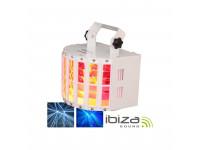 Ibiza  Projector Luz com 2 leds RGBW 10W DMX MIC 30W
