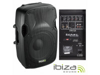 Colunas Amplificadas Ibiza XTK12A B-Stock