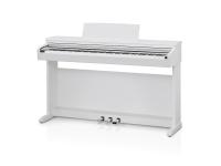 Kawai KDP 110 Satin White  O piano digital KDP110 capta o som fabuloso do aclamado piano de concerto SK-EX da Kawai, com todas as 88 teclas desse instrumento excepcional meticulosamente gravado, analisado e reproduzido fielmente usando a avançada tecnologia Harmonic Imaging