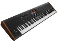 Korg Kronos 73   Korg Kronos 73 com novo motor de piano SGX-2 melhorado. Integrando o novo Berlin Grand.   16 faixas de áudio graváveis / sequenciador MIDI de 16 faixas.    16 processadores de efeitos    Porta Host USB/MIDI para acomodar as superfícies de controlo (KORG microKEY, NanoPAD2, etc...)    Teclado RH3, topo de gama dos teclados de toque pesado de 73 notas    Transição de sons suaves    Superfície de controlo avançada:    Joystick duplo (vetor X-Y)    Controlador de fita    8 potenciómetros rotativos    9 cursores    16 botões iluminados.   Seleção de sons impressionante:  Master Sound Design Team  Kronos Expansion Sound Libraries  Kronos Expansion Sound  Artist Sound Libraries  Famous Song Sounds  Nove motores de síntese diferentes  Repertório inovador que integra um grande número de novas funções  Ecrã a cores tátil, que integra a nova função tocar-deslizar.  Ferramentas de sequências:  Karma  Faixas de bateria  Sistema aberto de amostragem.