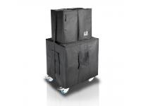 LD Systems Dave 18 G3 Cover Set  Incluye cubiertas protectoras para un subwoofer y dos altavoces satélite y una rueda con correa  Color: negro