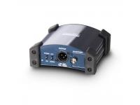 LD Systems LDI 02  Caja DI activa en robusta carcasa de metal (aluminio / acero) con protectores de esquina, azul-plateado / metálico, batería interna de 9 V (parpadea durante el funcionamiento), que se apaga automáticamente cuando se utiliza alimentación fantasma (el indicador LED está encendido continuamente encendido). consumo de batería extremadamente bajo. Batería: bloque de 9 V (no incluido).