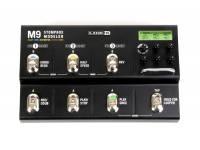 Line6 M9 Stomp Box  Stompbox, + 100 efeitos, 3 unidades fx, 2 modelos por unidade de efeitos, tap tempo universal, display, afinador, 24 cenas, looper de 28 segundos, MIDI in/out, entrada para 2 pedais de expressão, True analog bypass/DSP bypass