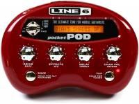 Line6 Pocket Pod  Processador, 64 amp/fx/colunas, mesmos sons do POD2.0, + 300 programas (incluindo presets de artistas), 4 controladores, afinador, ligação USB, portátil
