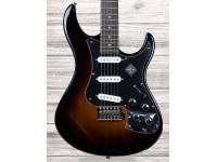 Line6 Variax Standard Sunburst  Guitarra Variax Std, corpo amieiro, escala pau santo - 648mm, 22 frets médio-jumbo, pente Graph Tech, tremolo Custom, pickups SSS Alnico V, Variax HD Modeling Engine integrado, incl. Workbench HD e saco almofadado