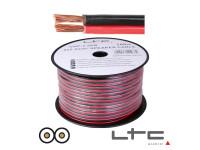 LTC Audio 2x4.00mm Preto/Vermelho 100m Ltc Hi-Fi