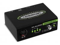 M-Audio MIDISport 2X2 AE USB   M-Audio MIDISport 2X2 AE USB Anniversary edition  2 INs  2 saídas  Função de mesclagem  Para o Windows XP SP2 / Vista / Win7, o MAC OSX  Fonte de alimentação via USB  Cor: preto  Cabo USB incluído