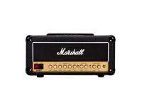 Marshall DSL20HR  La cabeza del amplificador de guitarra DSL20 . Desde el momento en que te conectas, DSL proporciona una rica funcionalidad para que puedas crear tu sonido y liberar tu alter ego. Usando los dos canales de ganancia con controles conmutables por pedal, reverberación, bucle FX y cambio de tono, puede adaptar el sonido a su estilo. La potencia se puede reducir de 20w a 10w sin afectar la calidad, por lo que puedes jugar donde sea que estés con confianza. El combo DSL20 tiene tres salidas de caja que permiten una combinación de dos altavoces, la capacidad de grabar y una función de espera de grabación silenciosa, lo que significa que se puede llevar desde el dormitorio al estudio y al espectáculo. Puede tener más mordisco y golpe en su tono con la función de presencia y la resonancia le dará la profundidad del sonido. Controles: canal de ganancia clásico (ganancia, volumen), selección de canal, canal de ganancia ultra (ganancia de volumen), botón de cambio de tono, agudos, medios, graves, presencia, resonancia, reverberación, opción de baja potencia (na trasero).