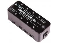 Mooer Micro Power   Pedal de alimentaçãoMooer Micro Power  Caixa metálica resistente;  8x Saídas isoladas de 9VDC com 300mA máximo cada uma;  Entrada de 12VDC;  Dimensões: 93.5 x 42 x 52mm;  Peso: 160g;  Inclui alimentador de 12VDC, cabos conectores e velcro;