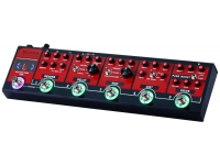 Mooer Red Truck  Pedal de efectos Mooer Red Truck  5 módulos de efectos: Drive, Distortion, Modulations, Delay y Reverb  Sintonizador incorporado  Loop de efectos  Stopbox y modos preestablecidos  Salida de altavoz emulada para usar en auriculares, conexión directa a sistemas de megafonía e interfaces de audio  Diseño análogo  Componentes de alta calidad  True Bypass para pasar la señal pura, cuando el módulo está desactivado  LED indicadores de operación  Entrada: 1/4 jack mono (impedancia: 1M Ohms)  Salidas: 1/4 jack mono (impedancia: 100 ohmios)  Alimentación: fuente de alimentación de 9 V CC (3 mA - enchufe central negativo) (fuente de alimentación no incluida)  Origen: China  Peso: 1.2 kilogramos  Dimensiones (W x D x H): 9.6 x 37 x 5.1 cm