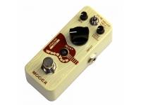 """Mooer Woodverb Acoustic Reverb  Pedal de reverberación para guitarra acústica Mooer Woodverb Reverb  Tres tipos de reverb: Reverb, Mod y Filter  Diseño análogo  Componentes de alta calidad  Mezcla, tono, decaimiento controles  True Bypass para pasar la señal pura cuando está deshabilitado  LED indicador de funcionamiento  Robusto, compacto y ligero.  Entrada: jack mono de 1/4 """"(impedancia: 1M Ohms)  Salida: 1/4 """"mono jack (impedancia: 100 ohmios)  Alimentación: fuente de alimentación de 9 V CC (3 mA - enchufe central negativo) (fuente de alimentación no incluida)  Consumo de corriente: 20 mA  Origen: China  Peso: 160 g  Dimensiones (W x D x H): 3.6 x 9.2 x 5.2 cm"""
