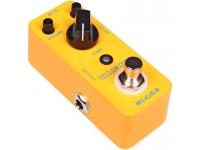 """Mooer Yellow Comp  Pedal de guitarra Mooer Yellow Comp  Sonido óptico de compresión clásico con ataque suave y decaimiento  Conserva perfectamente los transitorios de la señal original.  Todo el chasis de metal  Muy pequeño y exquisito  True bypass  Entrada: jack monoaural de 1/4 """"(impedancia: 470k)  Salida: jack monoaural de 1/4 """"(impedancia: 1k Ohms)  Alimentación: adaptador de CA de 9 V CC (centro menos enchufe)  Consumo: 10 mA  Dimensiones: 93.5 mm (ancho) × 42 mm (ancho) × 52 mm (alto)  Peso: 160g"""