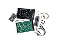Moog Werkstatt-01 and Expander  El Moog Werkstatt-01 es un kit de sintetizador de bricolaje que le permite crear su propio sintetizador analógico monofónico, incluso si no tiene experiencia electrónica. Considérese afortunado de tener la oportunidad: Werkstatt-01 fue originalmente un proyecto diseñado para el taller de construcción de sintetizadores de Moog en MoogFest '14. Debido a la increíble demanda, Moog lanzó este kit de ensamblaje a través de un grupo selecto de minoristas. Con el legendario filtro de escalera de 4 polos de Moog y la increíble flexibilidad de su diseño semimodular, será recompensado gentilmente por construir su propio Moog Werkstatt-01.