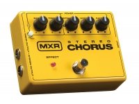 MXR M134 Stereo Chorus  MXR M134 Stereo Chorus  Completamente análogo  Controles de corte de frecuencia ALTA / BAJA para una conformación de sonido más detallada  Dos salidas para sonido estéreo.  Bypass tamponado  Alimentación: 2x baterías de 9 voltios o adaptador de CC Dunlop ECB-004 de 18v (incluido).