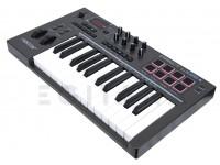 Teclados MIDI Controladores Nektar Impact LX25+   25 Teclas sensíveis à velocidade tipo sintetizador  Teclas sensíveis à velocidade semi-pesadas (LX88+)  4 curvas de velocidade + 3 fixas