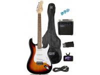 Pack de Guitarra Elétrica OQAN QGE-ST25 SB PACK ELÉTRICA
