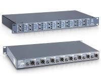 """Di Box Palmer PAN 16  Palmer PAN 16  Caja DI pasiva de 8 canales con hasta 16 entradas  Suma mono en la mezcla conmutable en todos los canales  Almohadilla conmutable -10 dB, -20 dB, -30 dB  Aumento de gnd conmutable por canal  XLR y enlace por canal  Rango de frecuencia: 10 - 40,000 Hz  Ratio: Ratio: 10: 1  Formato: 19 """"/ 1 HE"""