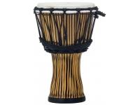 """Pearl PBJVR-7/698  A série Djembe inclui quatro tambores de tamanho; 7 """", 10"""", 12 """"e 14"""". As conchas sintéticas sem costura estão disponíveis em dois acabamentos dinâmicos Zebra Grass e Molten Scarlet com cabeças de pele simuladas.    A Djembe produz uma vasta gama de sons e é ideal como um instrumento a solo ou como parte de um grande conjunto de percussão ou de um círculo de bateria. Pearl oferece djembes que se encaixam em qualquer orçamento.    Uma parte da venda de cada djembe será compartilhada com o The Rhythmic Arts Project. O principal objetivo do TRAP é promover a inclusão"""