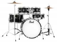 Conjunto completo de bateria junior Pearl Roadshow Junior Jet Black 16