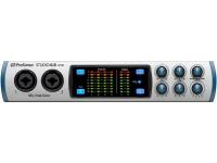 Presonus Studio 68  Presonus Studio 68 Interface de áudio USB 2.0 com 6 entradas e 8 saídas, equipada com 4 pré amplificadores XMAX-L solid-state e conversores de alta qualidade e desempenho 24-bit/192 kHz, MIDI I/O, S/PDIF e saída para fone de ouvido.    Projetada para Músicos, DJs, Engenheiros e Produtores  4 pré amplificadores XMAX-L Solid-State  Conversores 24-Bit/192 kHz  Compatível com PC e MAC
