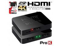 ProK   Distribuidor HDMI 1 Entrada 2 Saídas 4K