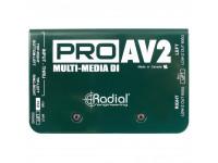 Caixa DI stéreo passiva Radial Engineering Pro AV2