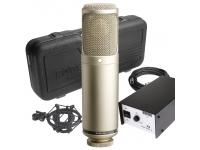 Rode K2   Rode K2  Microfone a válvulas que possui a nova cápsula HF1 de alta dinâmica.  O Røde K2 aguenta um nível de pressão sonora máximo de 162 dB, ruído inerente de apenas 10 dB (A) (o que o torna no microfone a válvulas mais silencioso do planeta)    Nível máximo de saída > +30 dBu.    Possui padrões de regulação infinita para afinação precisa do microfone ao tipo de instrumento que deseja captar.    Inclui caixa rígida em fibra, fonte de alimentação externa e suspensão (SM2).