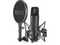Microfone condensador cardióide de diafragma grande Rode  NT1