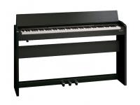 Roland F140R CB B-Stock   Roland F140R CB com Tecnologia inovadora da Roland num instrumento que se distingue pelo estilo, acessibilidade e tamanho compacto  Piano com tecnologia SuperNATURAL que oferece o som rico e genuíno de um piano de cauda acústico  Teclado standard PHA-4 com 88 teclas que proporciona o máximo de sensibilidade para maximizar o vasto potencial tímbrico do gerador de som dum piano SuperNATURAL   Funcionalidade sofisticada de ritmos, integrada, com acompanhamentos vários: 72 estilos diferentes de ritmos, incluindo 6 estilos de pianista    Explora um universo de instrumentos para além do piano acústico com 305 sons adicionais que incluem pianos elétricos, instrumentos de cordas, sopros, órgãos, guitarras, sintetizadores e muitos outros    Tecnologia Headphones 3D Ambience que oferece uma experiência de som multidimensional para desfrutar dos seus auscultadores enquanto toca em privacidade    Ligue o seu telemóvel ou tablet através de tecnologia Bluetooth sem fios para mudar as páginas da pauta enquanto toca