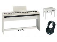 Piano digital com móvel Roland FP-30X WH Home Bundle  Pack Roland FP-30X WH Home Bundle
