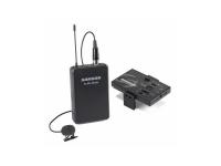 Samson Microfone de Lapela Wireless Go Mic Mobile   SAMSON KIT Microfone de Lapela Wireless Go Mic Mobile  Distância Máxima: 30m  Freqüência de trabalho: 2.406 ~ 2.478GHz  Resposta de frequência: 10Hz-22kHz  Temperatura de operação: -10 ~ + 50 ° C  Sinal ao ruído: microfone de 90dB (A) com ganho mínimo, microfone 78dB (A) com ganho máximo  Nível de Saída (recetor): +6 dBu, = 4.4 Vpp, = 70 mW por lado em 32Ω  Duração da bateria: Recetor : 7 a 13horas Transmissor: 20 horas  Conector de Entrada do Microfone Lapela: XLR