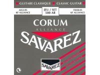 Savarez 500AR  Cuerdas para guitarras clásicas  Voltaje estándar (rojo)  Carbono