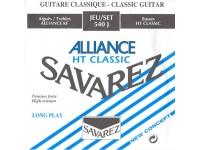 Savarez 540J  Conjunto de cuerdas de la Alianza  Para guitarras clásicas  Carbono  Alta tensión  Azul