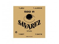 Savarez Jogo de Cordas Nylon Guitarra Clássica 520R  Savarez 520R Conjunto de cuerdas de nylon para guitarra clásica Tensión fuerte