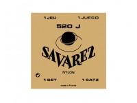 Savarez Jogo de Cordas Nylon Guitarra Clássica 520J  Juego de cuerdas de nylon Savarez 520J para guitarra clásica, tensión extra fuerte