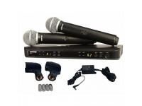 Microfone sistema sem fio UHF duplo Shure BLX288/Beta58 Combo S8