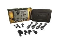 Microfone para bateria Shure PGA Drumkit 4    O PGA DRUM KIT 4 inclui um PGA 52, dois PGA 56, um PGA 57 , adaptadores e cabos de montagem.