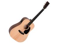 Sigma Guitars DME+ Dreadnought Natural Satin  O Sigma DME já está equipado com um tampo de abeto maciço em uma forma de couraça que produz um baixo quente e potente com médios balanceados e agudos claros. Os sintonizadores garantem a estabilidade do ajuste e a ação plana proporcionam jogabilidade suave. Com os captadores da Sigma com sintonizadores integrados, esta guitarra está pronta para o palco. O que mais você quer ... e tudo isso está disponível a um preço tão baixo!